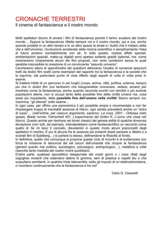 cronache terrestri presentazione corso-1